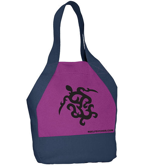 Canvas Tote with Turtle