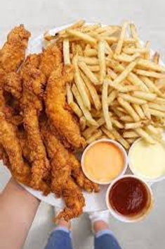 Chicken Fingers & French Fries (2-3 People)
