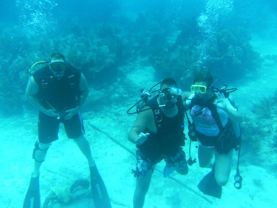 Family time scuba diving