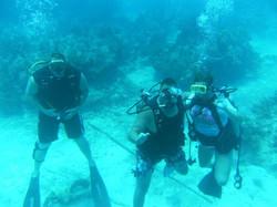 Family time scuba diving