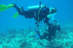 2 divers having fun in Key Largo