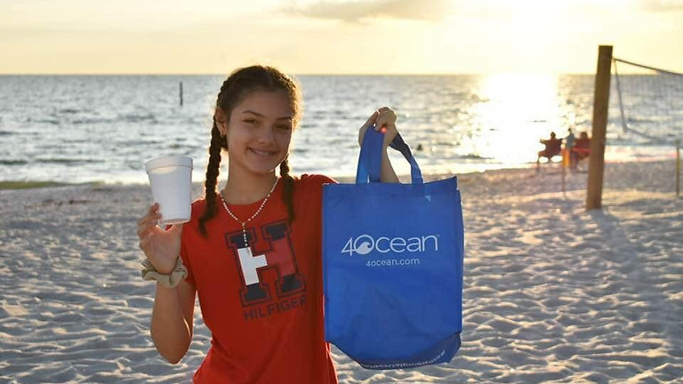 Englewood Beach Cleanup with Green Tide Conservation Team