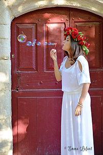 mariage, bouquet de mariée, deuil, fleuriste vaison la romaine