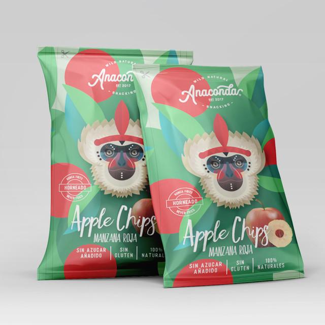 Apple Chips | Packaging Illustration