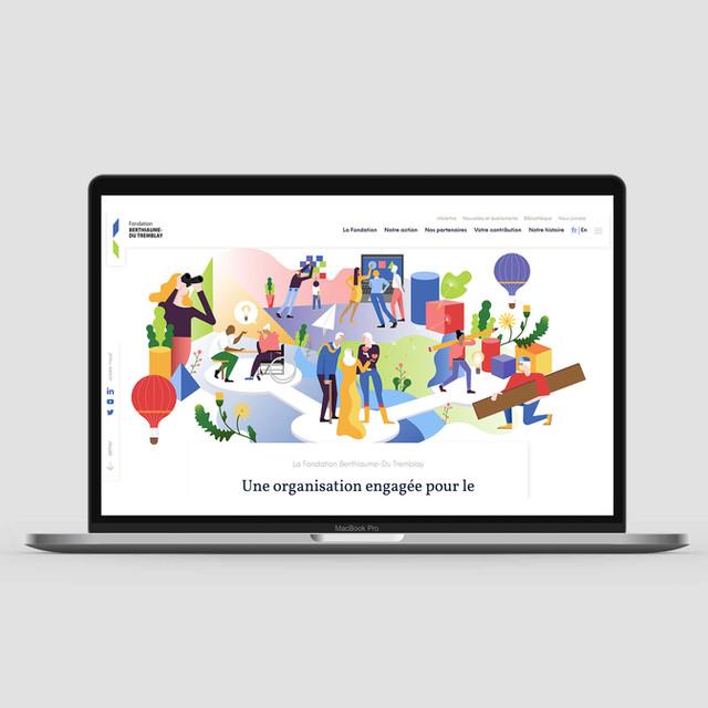 Company Website Illustration