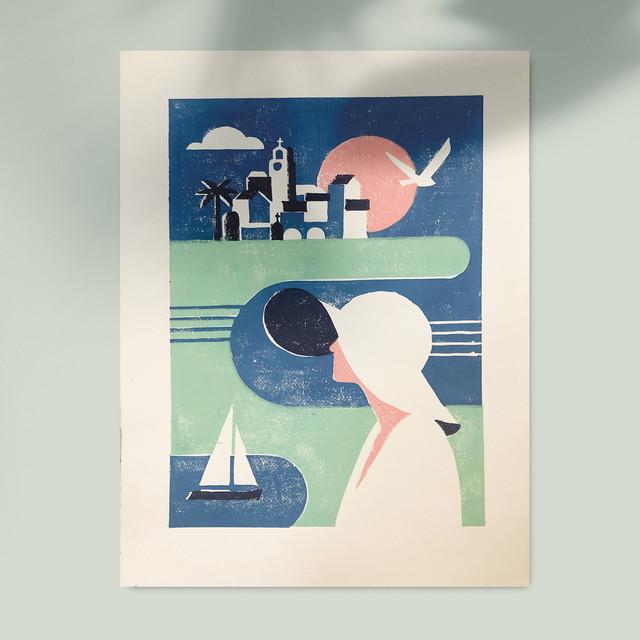 The Traveler | Handmade Print