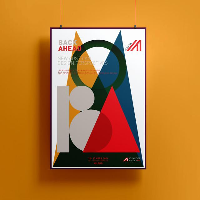 Poster Illustrations Austrian Design Exhibition - Milan Design Week