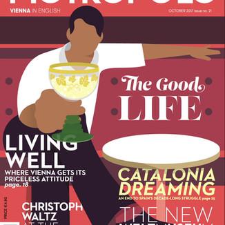 Metropole Magazine Cover Illustration