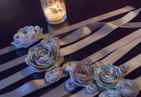 corsage and candle