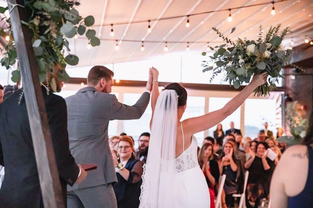 Wedding couple celebration