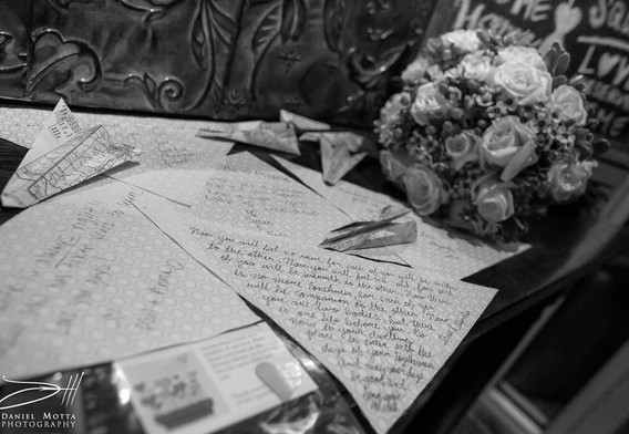 letters and flowers