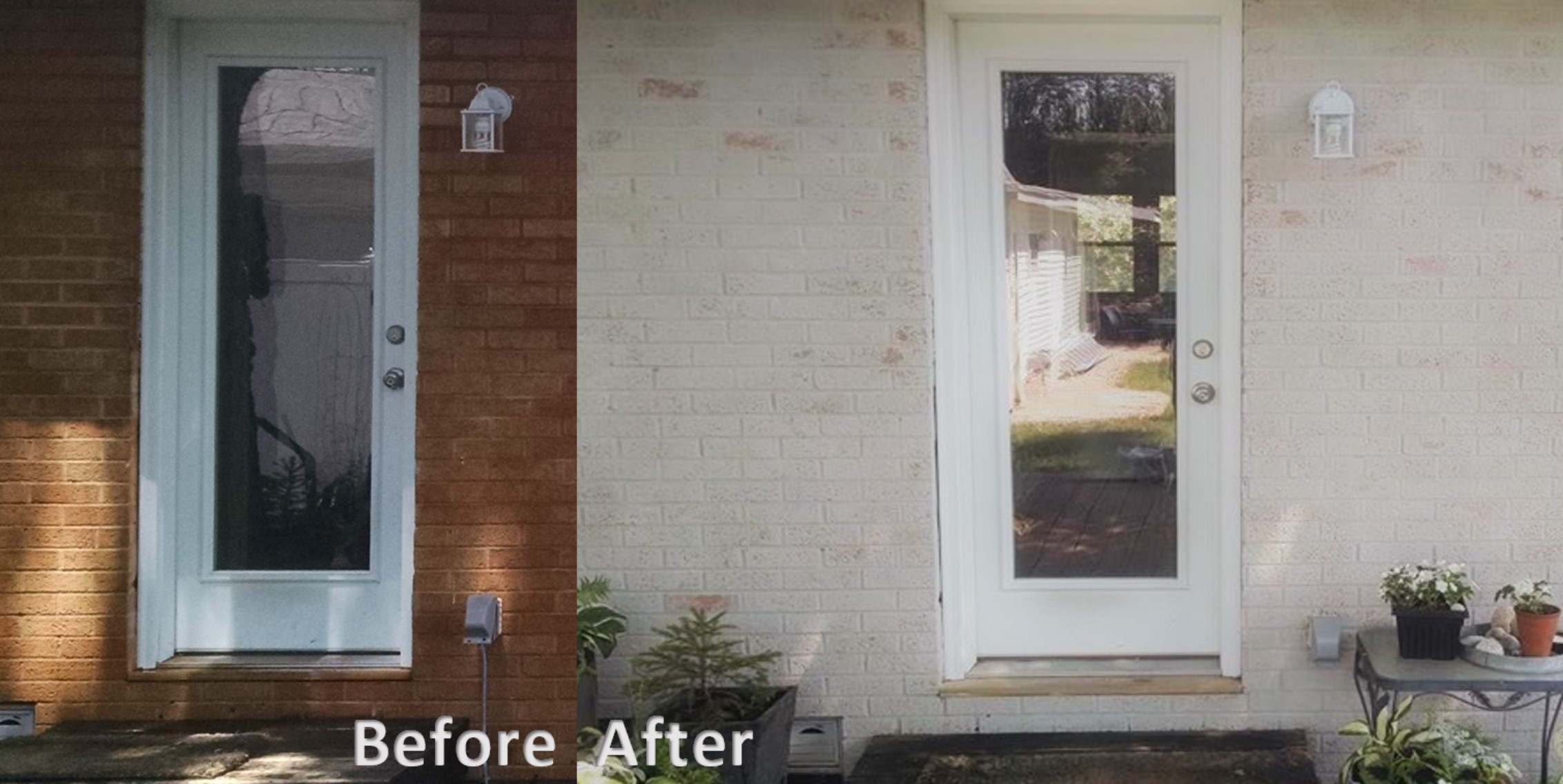 Before and after back entrance