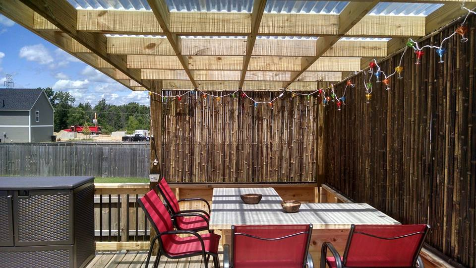 Pergola on pool deck