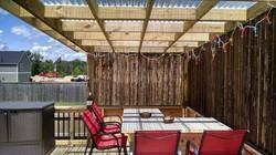 Pergola on pool deck