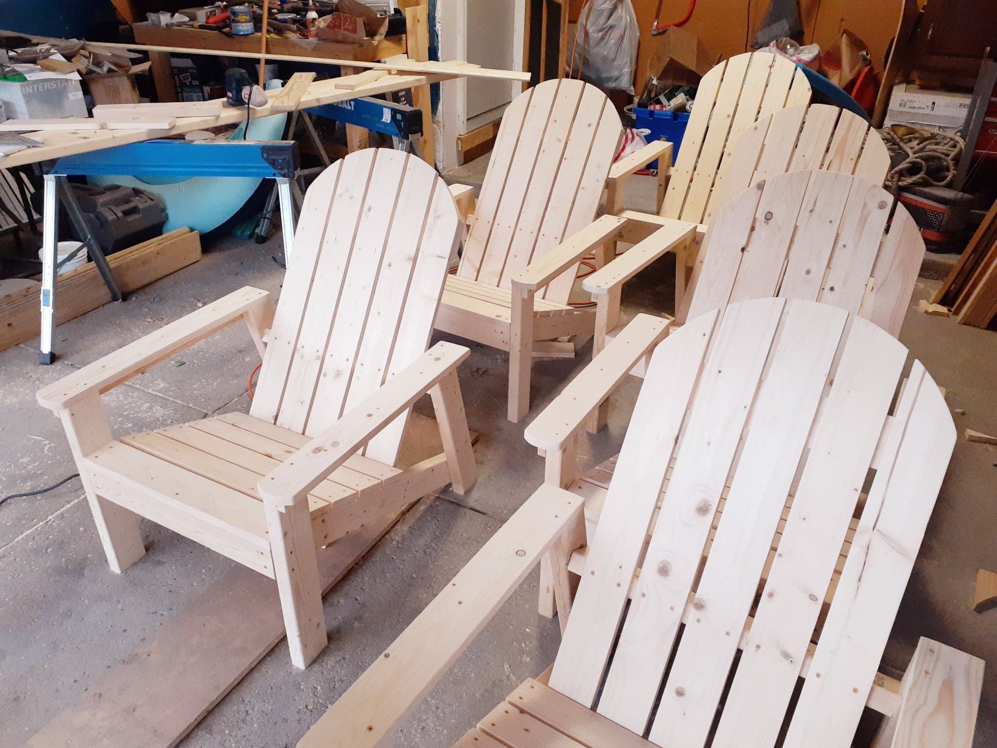 Custom Adirondack chairs - unstained/pai