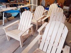 Custom Adirondack chairs - unstained/pai