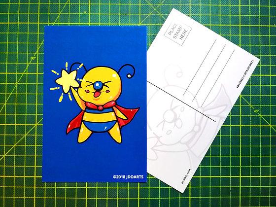 "Pack of 2 Happy Star Bae-Bee Postcards 4""x6"""
