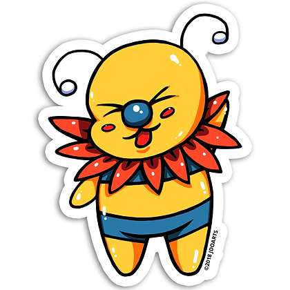 Floral Me Bae-Bee Vinyl Sticker 3""