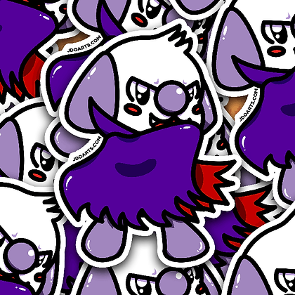 SPOOKY Vamp Bo-Bo Adorable Glossy Sticker 3""