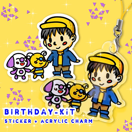 BIRTHDAY VINYL STICKER + CHARM KIT by JDoArts