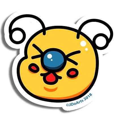 "Bae-Bees! Head Vinyl Sticker 3"""