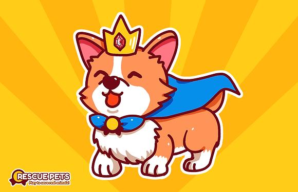 Rescue Pets Game Crown Corgi the Corgster Poster 11x17