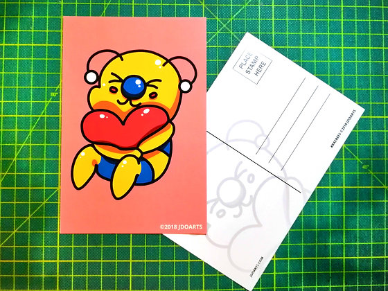 "Pack of 2 Love Me Bae-Bee Postcards 4""x6"""