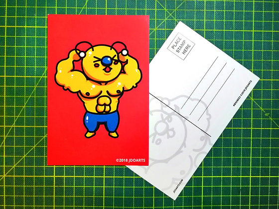 """Pack of 2 Mighty Bae-Bee Postcards 4""""x6"""""""