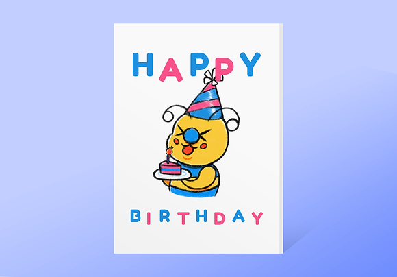 """Happy Birthday"" Bae-Bee Card w/ Envelope"