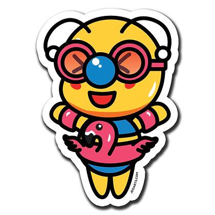 """Bae-Bee w/ Floatie Glossy Sticker 3"""""""