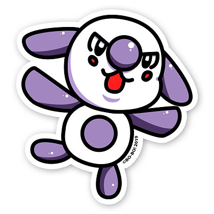 Happy Bo-Bo Vinyl Sticker 3""