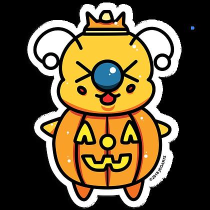 "Spooky Pumpkin Prince Bae-Bee 3"" Vinyl Sticker"