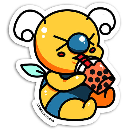 "Boba Lover Bae Bee Vinyl Sticker 3"" Waterproof"