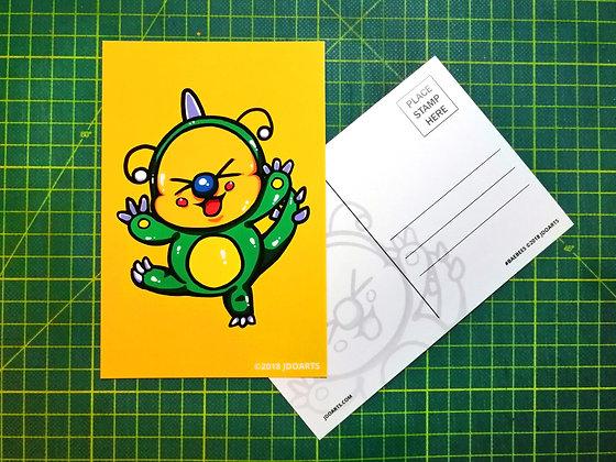 """Pack of 2 Dino Dino Dinosaur Bae-Bee BB Postcards 4""""x6"""""""