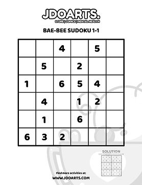 Bae-Bee JDoArts Sudoku Fun Activity