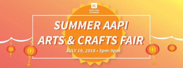 Summer AAPI Arts & Crafts Fair 2018