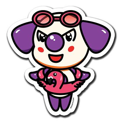 "Bo-Bo w/ Floatie Glossy Sticker 3"""