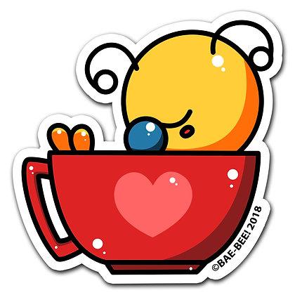 """Teacup Bae-Bee Vinyl Sticker 3"""""""