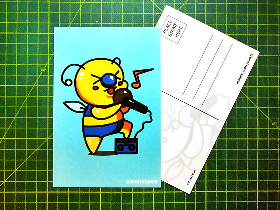 "Pack of 2 Karaoke Idol Bae-Bee Postcards 4""x6"""