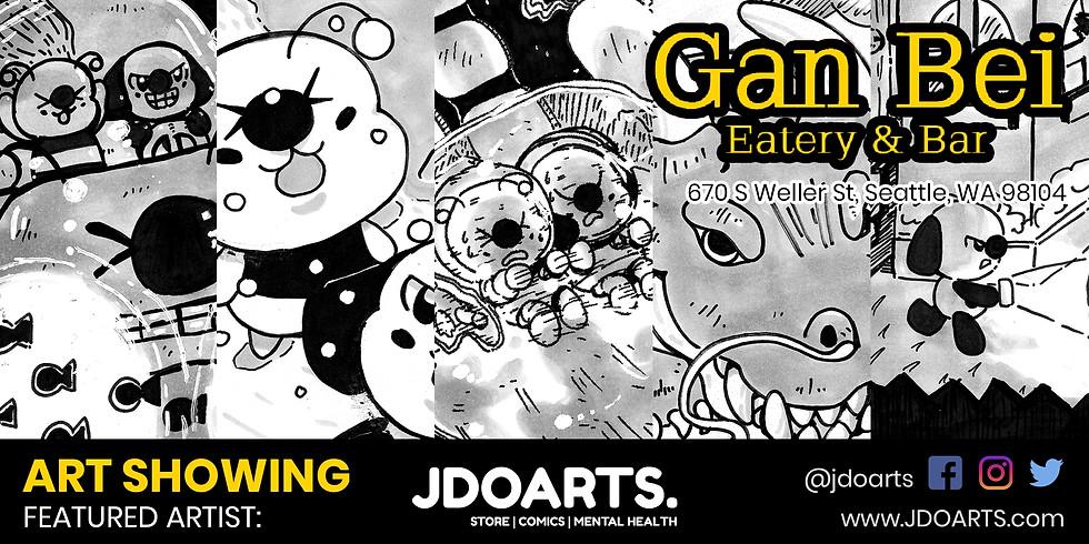 JDoArts Artwork Showing @Gan Bei Seattle Chinatown Bar