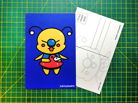 "Pack of 2 Cool For The Summer Bae-Bee Postcards 4""x6"""