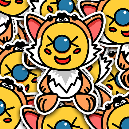 SPOOKY Werewolf Bae-Bee Adorable Glossy Sticker 3""