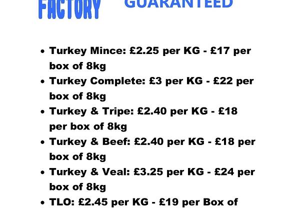 The Raw Factory - Turkey /Duck