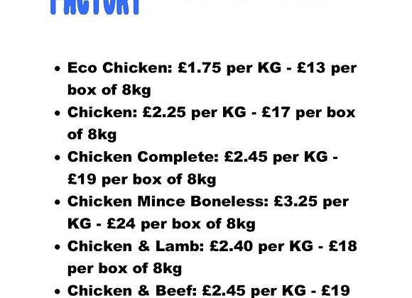 The Raw Factory - Chicken
