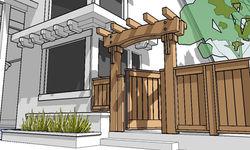 Dellinger Backyard - Gate and Trellis