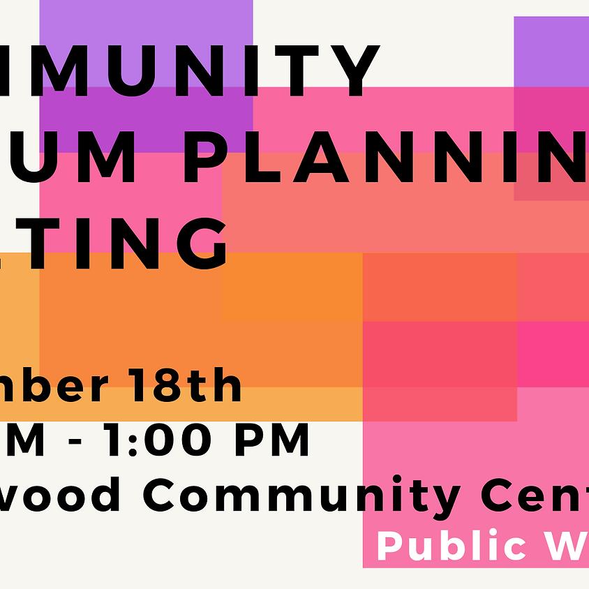 September Community Forum Planning Meeting