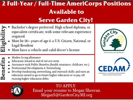 Coming Soon: 2 Full-Time // Full-Year AmeriCorps Positions