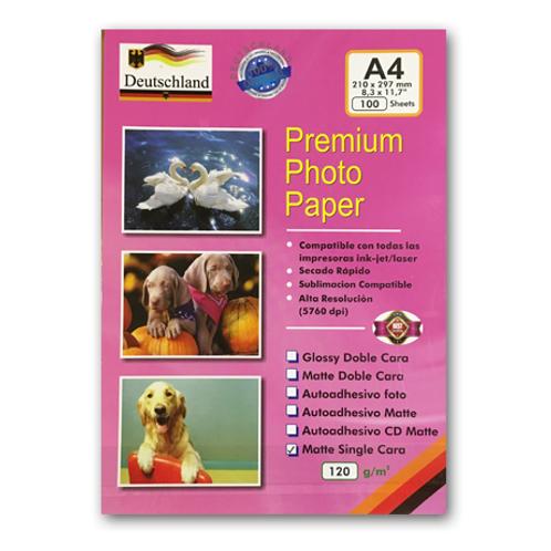 Papel de alta para fotografías A4