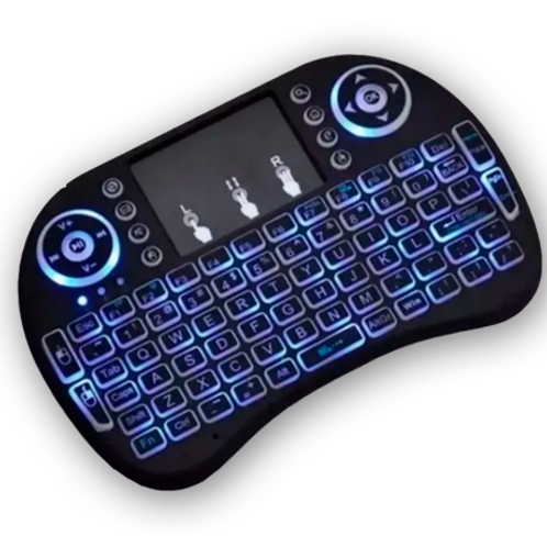 Mini teclado para TV Retroiluminado con touchpad