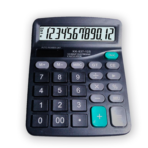 Calculadora KK-837 12 Dígitos solar